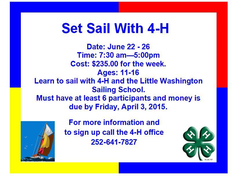 2015 sailing postcard