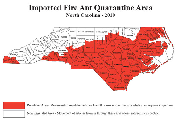 Fire Ant Control Seminar North Carolina Cooperative Extension - Map of where fire ants are found in the us