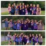 Students with the CMC (a local co-op)showing support for our military youth on Purple UP! Day 2015.