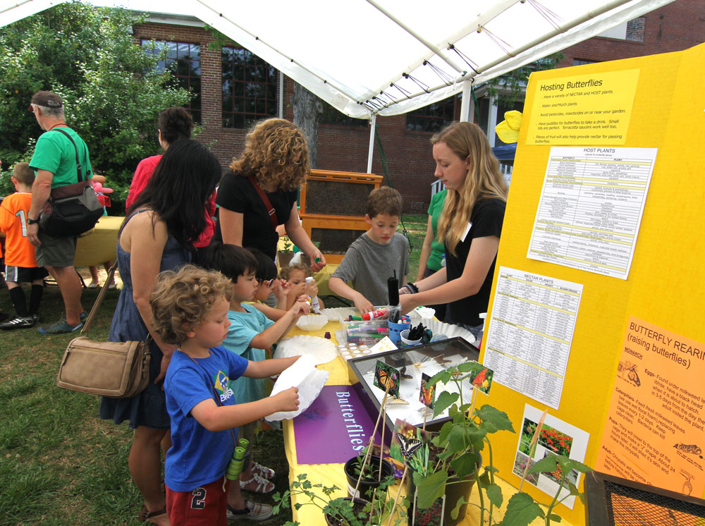 Beekeeper and Girl Scout Molly taught visitors all about butterflies