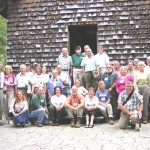 Graduates of the Woodland Steward Series in front of the original Biltmore Forest School.