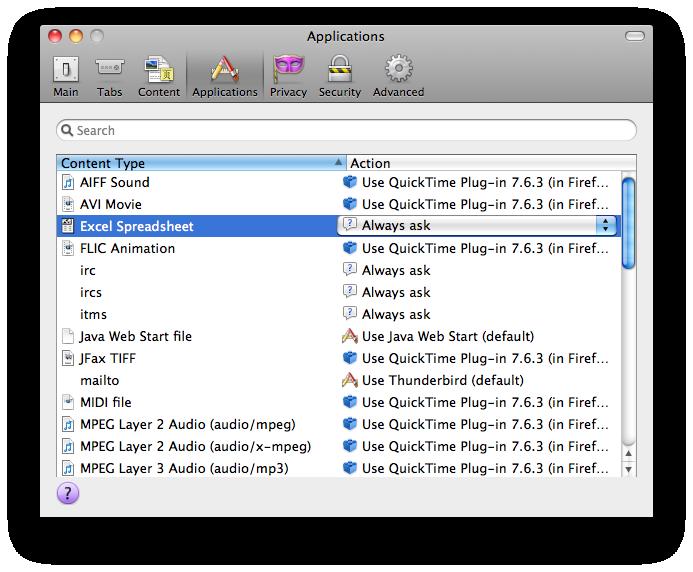 Firefox File Preferences