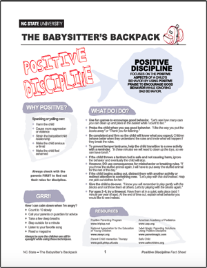 The Babysitter's Backpack: Positive Discipline