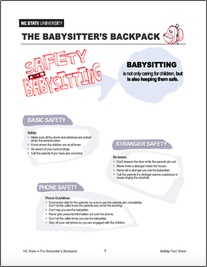 The Babysitter's Backpack: Safety and Babysitting