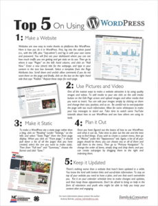 Top 5 On Using WordPress