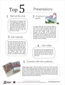 Top 5 Presentations