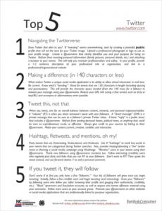 Top 5 Twitter