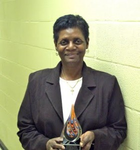 Yvonne Mullen with award