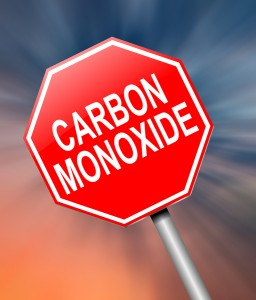 Illustration depicting a sign with a Carbon Monoxide concept.