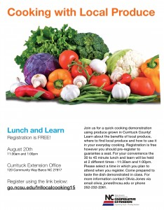 lunch and learn cooking with local produce 08202015