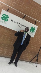Langston Byrd wins Gold at State Presentations (4-H Congress), Raleigh, NC