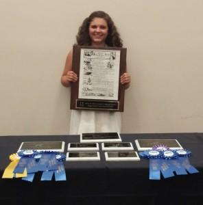 2015 NC State 4-H Livestock Judging State Champion:  Hannah Ellis