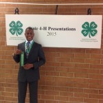 Kaleb Davis, Gold with his presentation in Foods and Nutrition