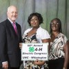 Pictured from left are Wayne Huddleston, Acct. Manager iwth Duke Energy, Nala Brown and Betty Garris.