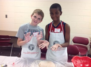Preparing yeast bread and learning about the chemistry of cooking