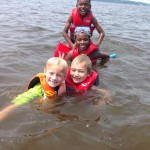 4-H Critter Campers enjoying river day at Critter Camp!