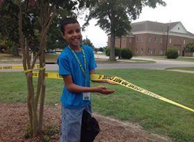 RJ at the crime scene!