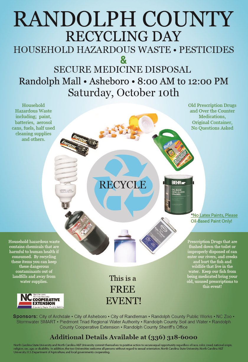 Randolph County Household Hazardous Waste, Pesticides and Secure Medicine  Disposal
