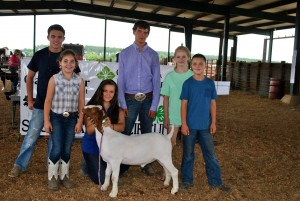 Richmond County 4-H Livestock Club Members. Pictured from left:  Coleman Berry, Savannah Shepard, Abby Hamilton, Jordan Carroll, Payton Smith, Garrett Hamilton. Not pictured:  Tobey Lunceford, DeLani Reep, Kristi Reep, and Ava Berry.