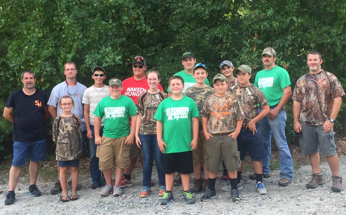 Front L to R:  Colby Wike and Ben Jolly 2nd Row L to R:  Cora Childers, Garrett Brown, Nicole Vick, Clate Childers, Zach Mundy,  Back Row L to R:  Scott Mitchell (coach), Stacy Childers (coach), Caleb Gilreath, Abel Cloer, Grant Mitchell, Jesse Tevepaugh, Fudd Brown (coach) and Tracy Wike (Coach)