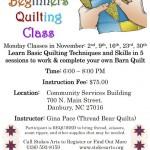 Beginners Quilting Class