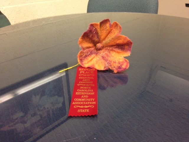 Lisa Royal's 2nd place felted flower