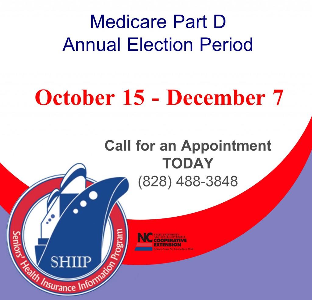 Medicare Part D Open Enrollment North Carolina