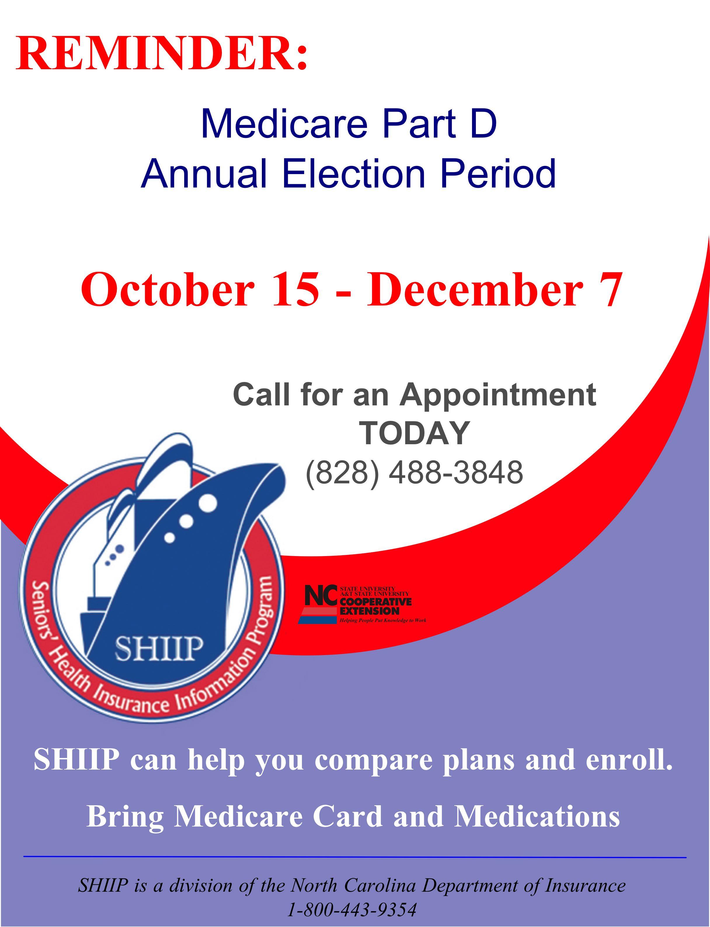 Medicare Part D Open Enrollment   North Carolina ... - photo#26
