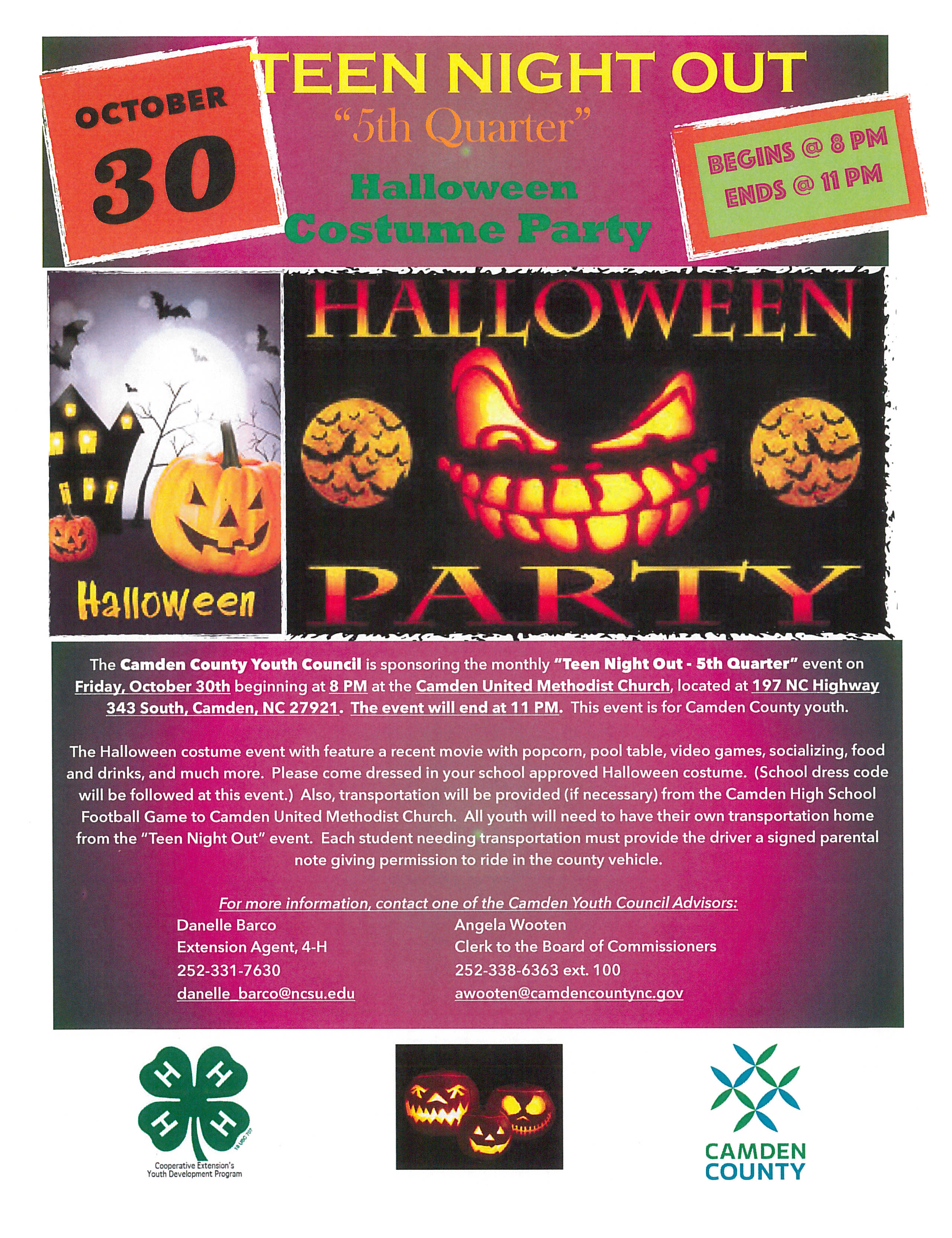 Teen Night Out: Halloween Party | North Carolina Cooperative Extension