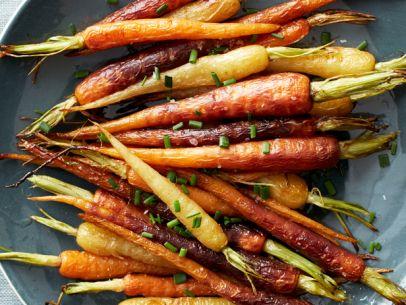 Foodnetwork-Roasted Rainbow Carrots