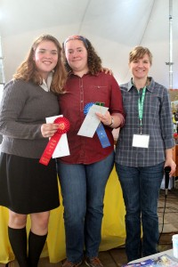 Senior Winners: Rebekah Taylor - 1st, and Lena Devlin - 2nd with 4-H Agent, Leslie Dill