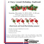 Flier for Very Local Holiday Festival