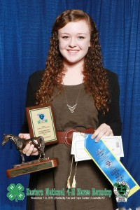 Grace Law- 2015 Eastern National 4-H Horse Round Up Individual Presentation Champion