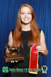High Overall Horse Judging Reserve Champion- Hannah Sather