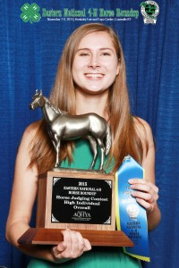 High Overall Individual- Horse Judging, Anna Ahlers