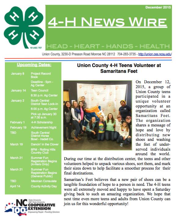 4-H News Wire - December 2015