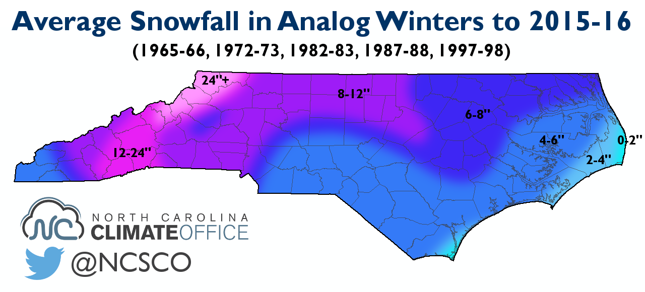 A Snowy Winter Ahead North Carolina Cooperative Extension - Us annual snowfall map