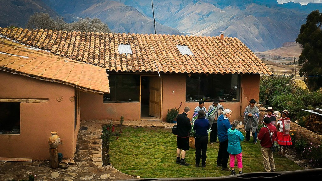 Community members interacting with tourists (Misminay, Cusco)