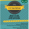 2016 4-H Teen Retreat Flyer