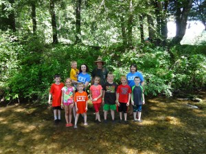 Photo taken by Caldwell County 4-H volunteer, 4-H Cloverbud Campers at Anita Alta Outpost Camp, Summer 2015