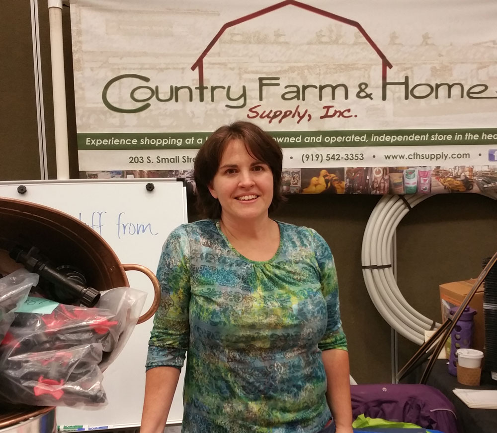 Melinda Fitzgerald at her booth at the CFSA Sustainable Agriculture Conference in November 2015.
