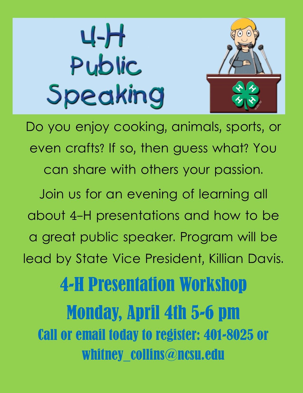 4-H Presentation Workshop