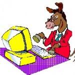 horse con computer