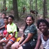 BJP campers await turns on the camp's high ropes course (July 2015).