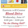 Eastern 4-H Blood Drive 6-8-16