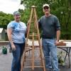 Raffle Winner Kerrie and Master Gardener Terry
