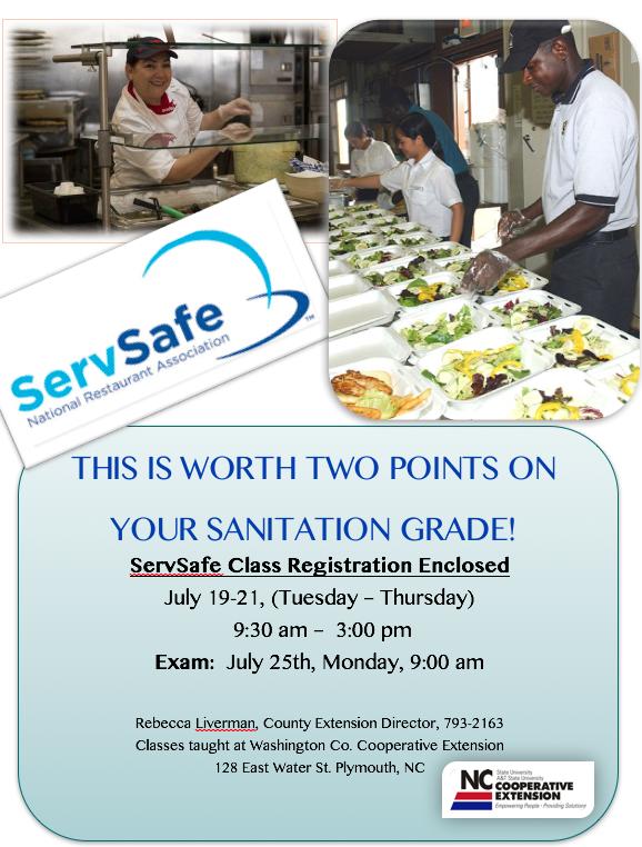 Sign up for ServSafe!