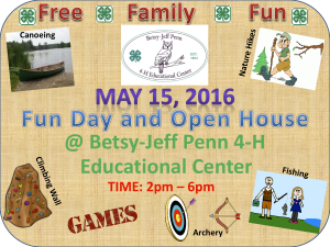 Cover photo for Betsy-Jeff Penn 4-H Educational Center Fun Day & Open House
