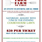 From farm to table flier 2016