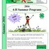 Summer Brochure 2016 - Cover